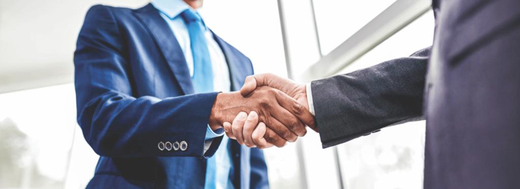 san luis obispo business service agents shaking hands